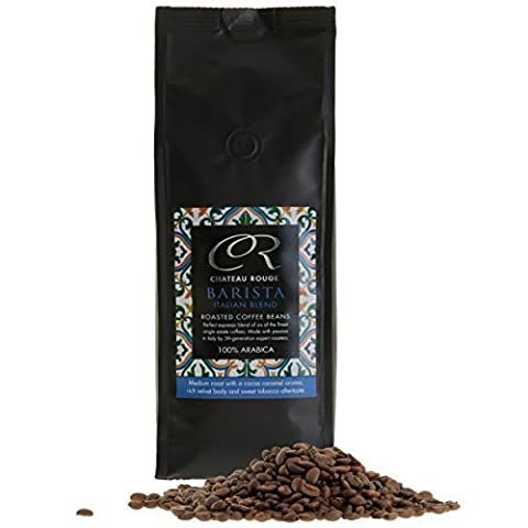 Chateau Rouge - Barista Italian Espresso Blend, 100% Arabica Coffee Beans, 500g