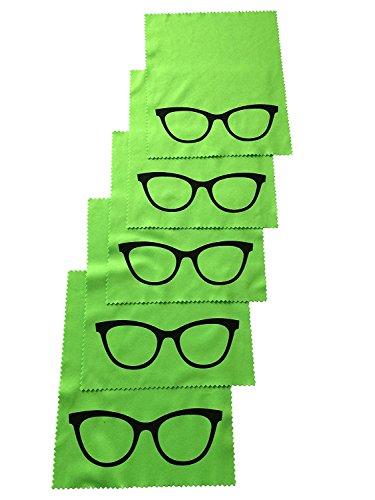 5x Mikrofaser Brillenputztuch - NEU 2017 noch besser - Brille - grün - groß - 18cm x 14,5cm - molinoRC ® Putztuch Displayputztuch Reinigungstuch für Kamera iPad iPhone Tablet PC molinoRC ®