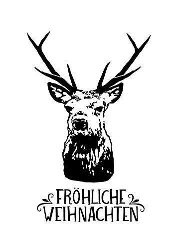 Stempel Hirsch Fröhliche Weihnachten -