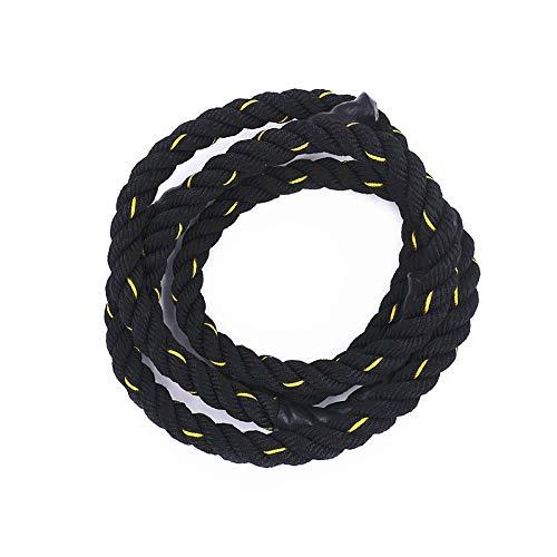 WLGGA Springseil 2.8MX 25Mm Heavy Jump Rope Weighted Battle Springseile Krafttraining Verbessern Sie die Kraft Fitness Home Gym Ausrüstung, schwarz
