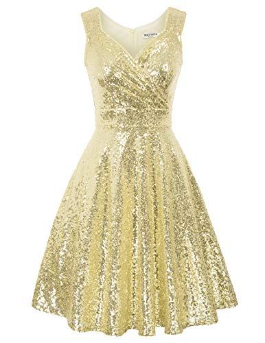 Robe à 'Audrey Hepburn' Classique Vintage 50's 60's Style Robe Rockabilly Swing sans Manch