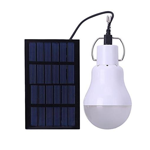 Luce Per Esterno Con Pannello Solare.Lampadina A Led A Energia Solare Portatile A Led Luce A