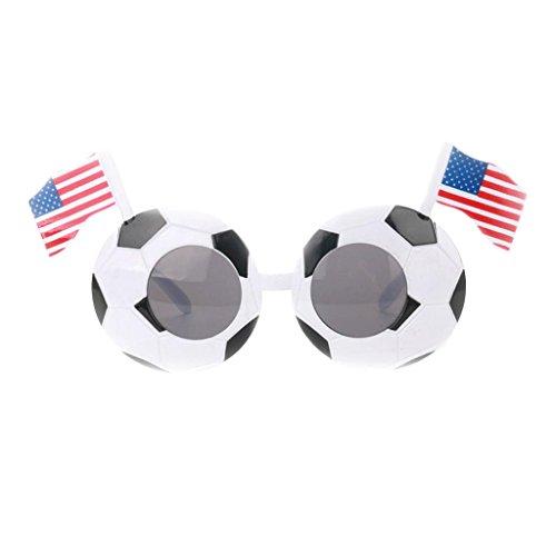 MagiDeal Fanartikel Sonnenbrille Fan Brille zur Fußball Weltmeisterschaft 10 Länder Flagge Stil - USA