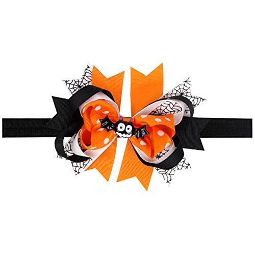 ODN Halloween Baby Mädchen Bogen Haarband Elastisches Stirnband Kopfschmuck Kostüme Zubehör,Style (Von Bilder Für Kostüme Babys Halloween)