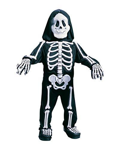 Horror-Shop Skelett Jumpsuit für Kleinkinder S