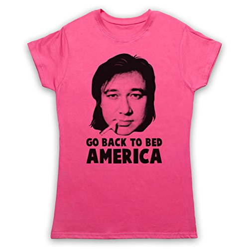 Inspiriert durch Bill Hicks Go Back To Bed America Unofficial Damen T-Shirt Rosa