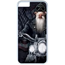 Biker JD Pig Manimal PC Case Cover For Apple Iphone 5C and White