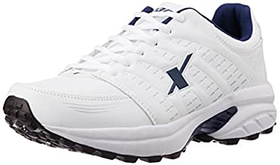 Sparx Men's White and Navy Blue Running Shoes - 6 UK (SM-241)(SX0241G)