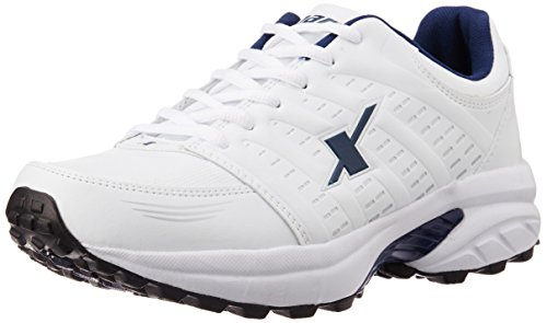Sparx Men's White and Navy Blue Running Shoes - 6 UK  available at amazon for Rs.979
