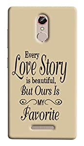 Best Quality 3D Printed Hard Designer Back Cover For Gionee S6