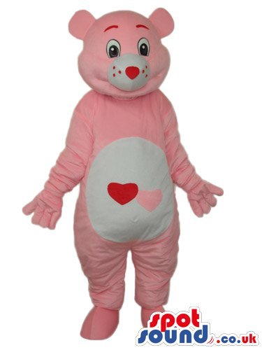 pink-care-bear-cartoon-spotsound-us-mascot-costume-with-a-hearts-on-its-belly