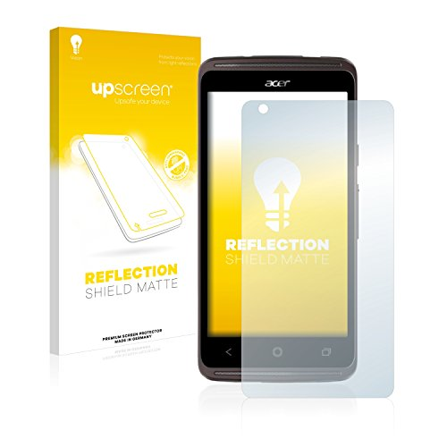 upscreen Reflection Shield Matte Screen Protector for Acer Liquid Z410 Plus (Matte and Anti-Glare, Strong Scratch Protection) - Screen Protector (Matte Screen, Acer, Kratzfest, Transparent, 1 Stück)