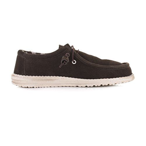 Dude Shoes Men's Wally Winter Suede Chocolate Brown
