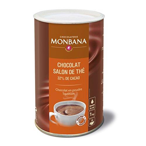 Monbana Chocolat Poudre 1Kg Boîte (min. 32% Cacao), 1er Pack (1x 1kg)