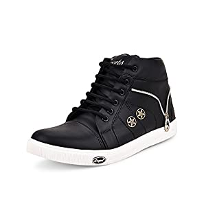 Essence Men's Vc 3101 High Top Synthetic Shoes – Black