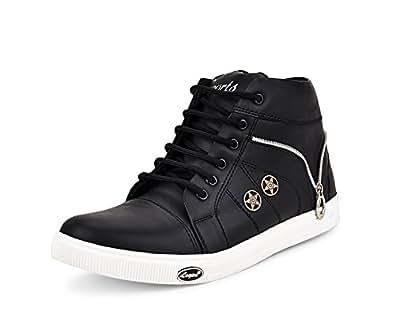 Essence Men's Black VC 3101 High Top Shoes-10