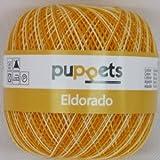 50g Puppets eldorado - Farbe: 18 - orange meliert - Häkelgarn Stärke 10