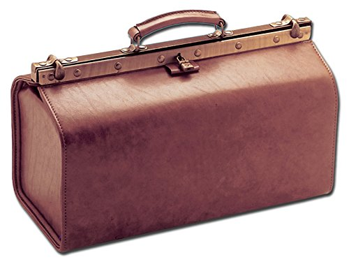 GiMa groß Polos von akragas Simulierte Leder Medical Tasche, Farbe Cognac, für Ärzte, GP, Tierärzte - Große Arzt-tasche