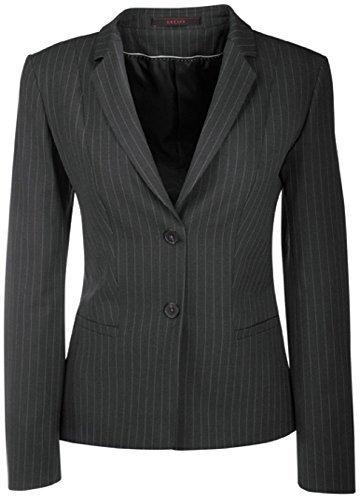 GREIFF Damen-Blazer Anzug-Jacke PREMIUM regular fit - Style 1446 - anthrazit/Nadelstreifen - Größe: 38