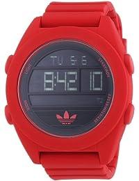 adidas Calgry - Reloj de Cuarzo para Hombre, con Correa de Silicona, Color Rojo