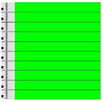 clubking-juego-de-pulseras-fibras-de-polietileno-tyvek-100-unidades-color-verde
