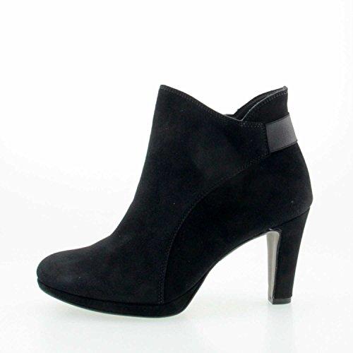 Paul Green | Stiefelette | Ankle | Samtziege - schwarz Nero