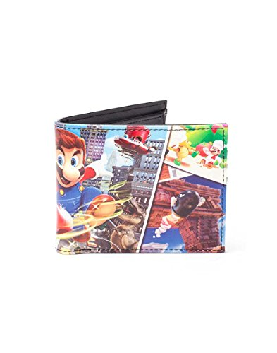 Preisvergleich Produktbild Super Mario Wallet Super Mario Odyssey PU Bifold Multicolor