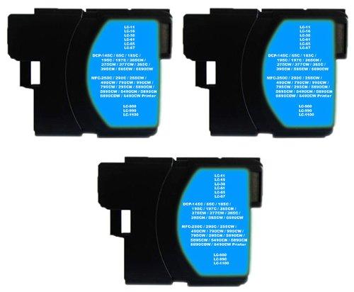 3x XXL Tintenpatrone für Brother LC-1100 LC980 LC11 LC16 LC38 LC61 LC65 LC67 - Brother Lc61 Tintenpatronen