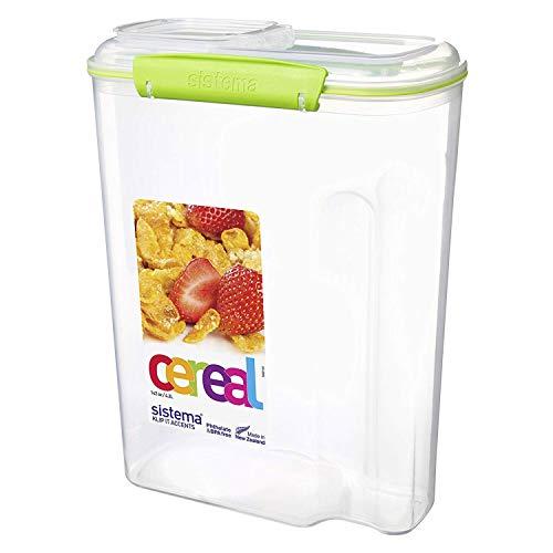 Sistema Contenitore per Cereali Polipropilene con Chiusura sigillata 42 l Vari Colori Disponibili