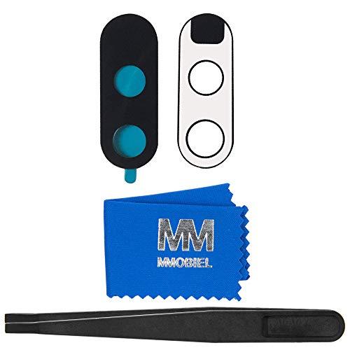 MMOBIELLinse von Rück Back Kamera kompatibel mit Motorola Moto G4 mit Pinzette und Tuch -