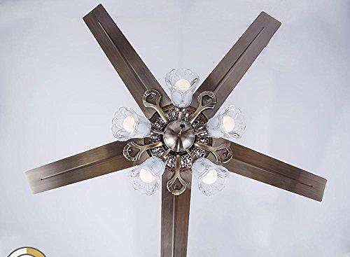 Plafoniere Da Sala : Sdkky ferro led soffitto luci ventilatore rustico europeo