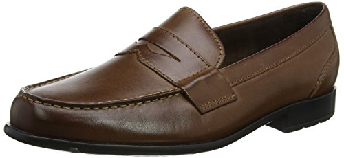 Rockport Herren Classic Loafer Penny Dark Brown Slipper, Braun (Dark Brown), 42 EU Rockport Penny Loafers