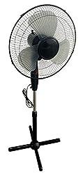 Metall Standventilator 40 W - höhenverstellbar auf bis zu 130 cm - 3 Stufen - Ventilator mit Sicherheits Nachtlicht