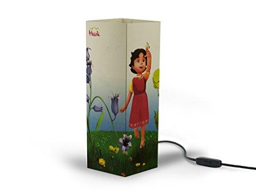 W-Lamp wl341hei Heidi in Blumenwiese-Möbel, Papier, creme, 11x 11x 32cm (Papier-möbel)