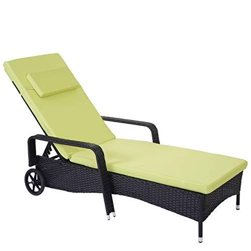 85db2e0e7667eb Chaise Longue Carrara, polyrotin, Bain de Soleil, couchette, alu ~  Anthracite,