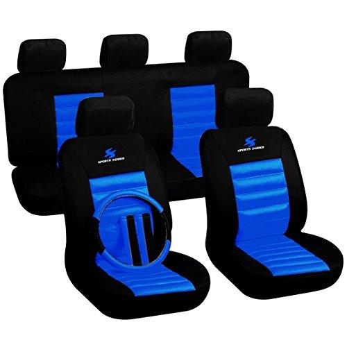 Woltu 7264-b Coprisedili Protezioni Sedili Auto Seat Cover Poliestere Universale Comodo Nero/Blu