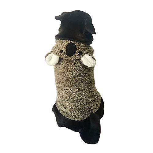 Bluelucon Weihnachten Hundebekleidung Polyester T Shirt Puppy Kostüm Hündchen Hund Kleidung Weiches Pullover Kostüm Hundemantel Haustier Hoodie warme Sweatshirts Puppy Coat - Cyber Monday Kostüm Angebote