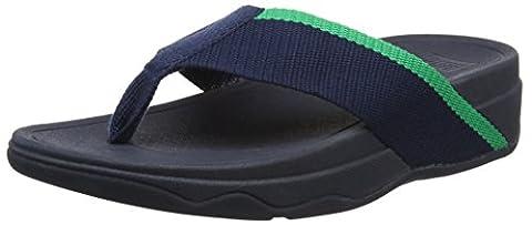 Fitflop Women Surfa Pretty Open Toe Sandals, Blue (Midnight Navy/Parakeet Green), 6.5 UK 40 EU