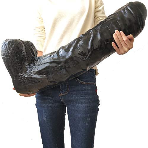 Sexspielzeug für paare,25.98 Zoll Klitoris Stimulator Dicker Riesiger Dildo Extremer Großer Realistischer Dick Lifelike Erdnuss-Grobes Beschaffenheits-Penis-Sex-Produkt Für ()