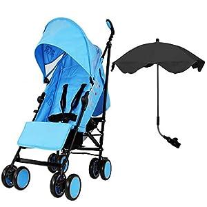 Zeta Citi Stroller Buggy Pushchair with Sun Protection Parasol (Zeta Citi Ocean + Black Parasol)   3