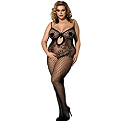 ad21caaab8 MarysGift Fishnet Bodystockings Bodysuit Body Stocking One Pi ... by  MarysGift · £2.99 - £12.99 · MarysGift Black Wet Look Faux Leather Plus  Size UK ...