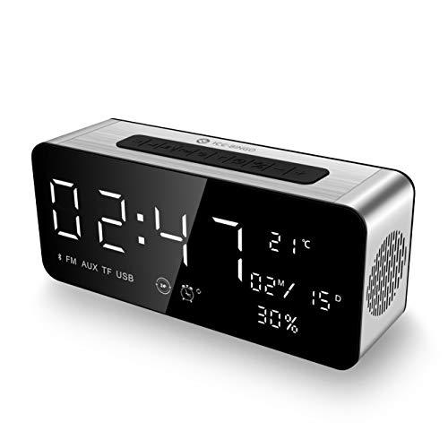 ICE-BINGO Bluetooth Lautsprecher Wecker Radio A10 für iPhone Echo Android