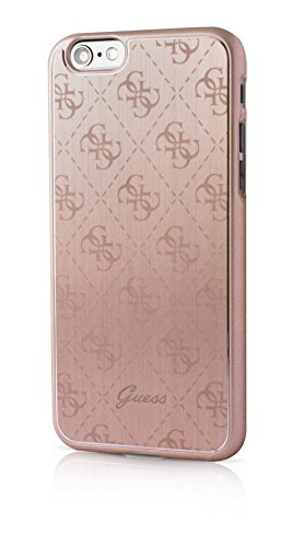 Guess 4G Collection Etui pour iPhone6/6S Rose Métal