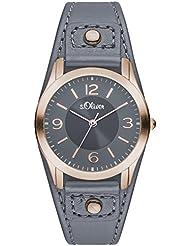 s.Oliver Damen-Armbanduhr XS Analog Quarz Leder SO-2947-LQ