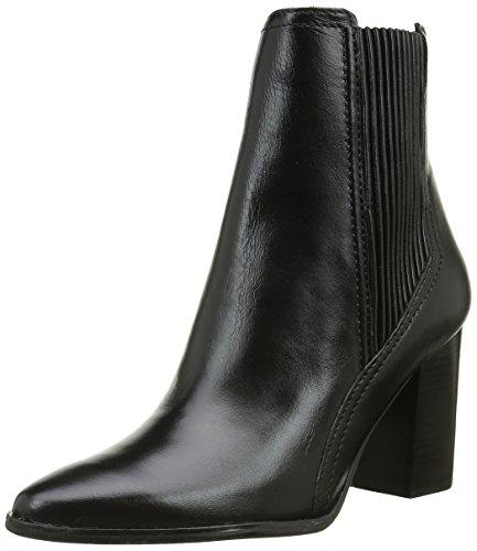 Bronx Damen Geneva Kurzschaft Stiefel, Schwarz (Black 01), 40 EU (7UK) (Heels High Leder Bronx)