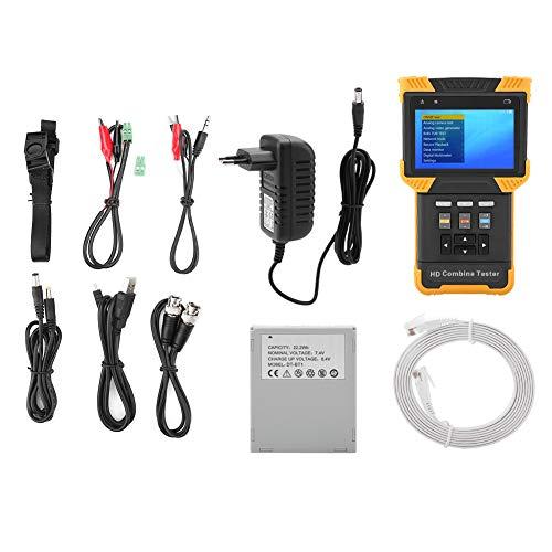 CCTV Tester, Akozon DT-T60 Tester Telecamere Multifunzione 1080P IP Telecamera Analogica Test HD Combine Tester 4,0' LCD CVBS Tester Video/PTZ Tester/Telecamera di Sicurezza/Tester Cavo(EU)
