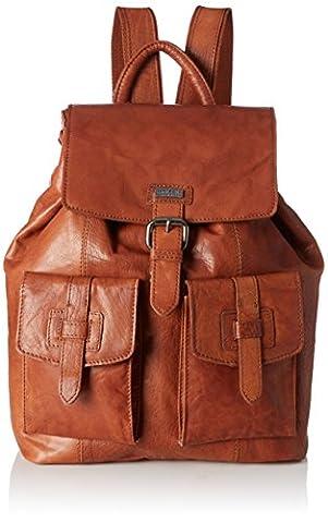 Spikes & Sparrow Backpack, Sacs à dos mixte adulte, Braun (Brandy), 10x34x32 cm (B x H T)