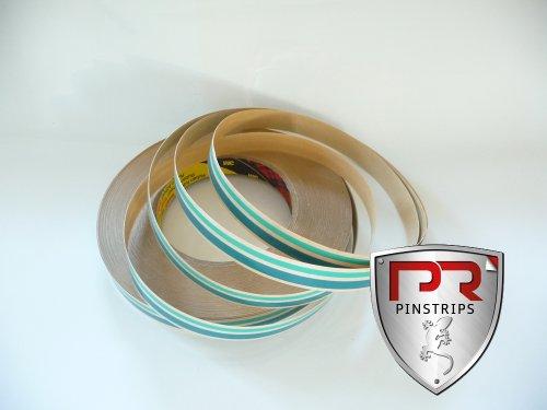 3M Auto Zierstreifen Strips Zweifarbig Grün+Petrol 8mm x 10m (Streifen 3mm und 5mm) (Trim-Line Collection)