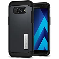 Spigen 573CS21359 Slim Armor Samsung Galaxy A5 2017 Hülle, 2-teilige Doppelte Schutzschicht, Schutzhülle Case (Metal Slate)