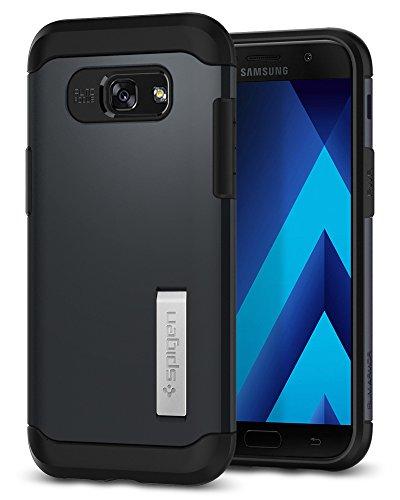Spigen Coque « Slim Armor Galaxy A52017 avec technologie à coussin d'air et système hybride de protection en cas de chute, avec support, de couleur métallique